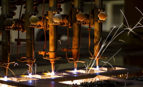 Cutting Machine With Sparks