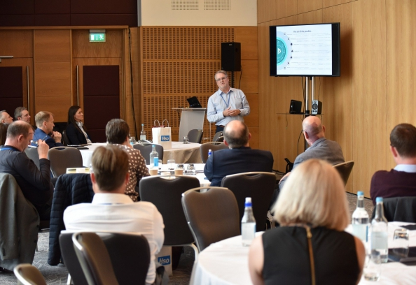 Adrian McNay, MD of HSO, presenting at the HSO Customer Day 2019