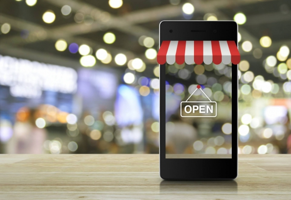 shop and mobile