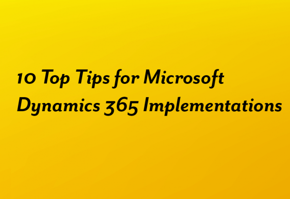 Top Tips For Dynamics